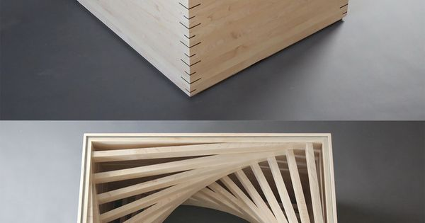 Parabola coffee table when i first saw this i thought it for Cool things made out of popsicle sticks