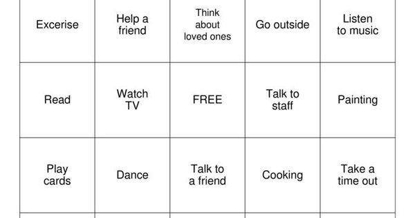 100+ Coping Skills Bingo – yasminroohi