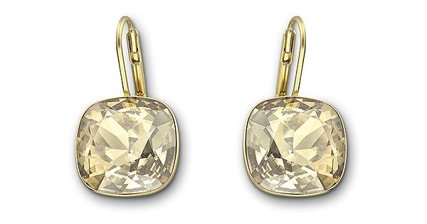 Swarovski Sheena Crystal Golden Shadow Pierced Earrings