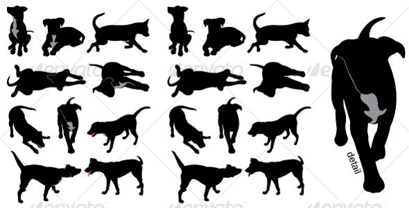 Dog Silhouettes Dog Silhouette Animal Silhouette Silhouette