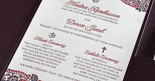 Letterpress Wedding Invitation as adorable invitation ideas