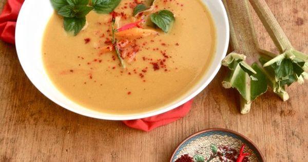 Paprika-Rhabarber-Suppe #Suppe #Rhabarber #Sommer #frisch | Essen ...