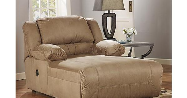 The hogan mocha press back chaise from ashley furniture for Ashley hogan chaise