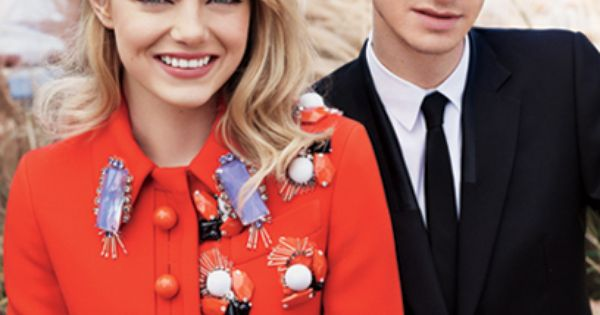 Teen Vogue August 2012 cover stars Emma Stone and Andrew Garfield. so