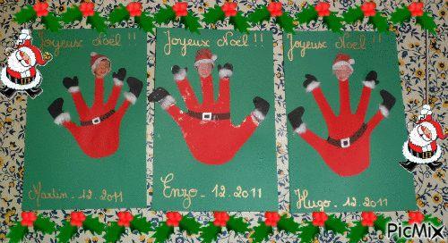 Carte de no l 2011 bricolage enfant no l pinterest no l et bricolage for Combricolages noel maternelle