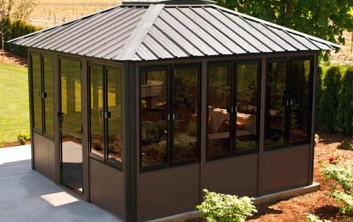 Visscher Vernon 11 X11 Fully Enclosed Hot Tub Gazebo Backyard