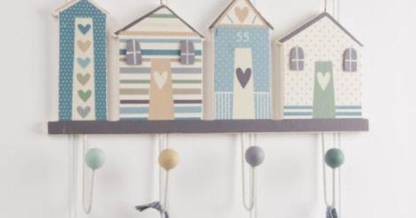 Gisela Graham Beach Hut Coat Hooks Lovely Design I Would Love To Try Making Something Similar