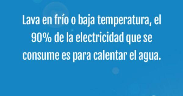 Lava en fr o o baja temperatura el 50 de la electricidad for Temperatura lava