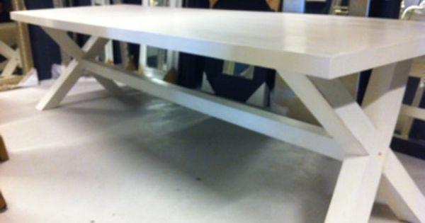 SILO 6  Witte eettafels  Tafel  Wit  Geverfd  Geschilderd ...