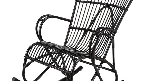 rocking chair rotin noir louisiane chaises bascule et chaises. Black Bedroom Furniture Sets. Home Design Ideas