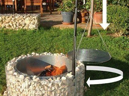 Der Gabionen Grill Im Bausatz Feuer Und Grillstelle In Einem Gabionen Grill Grillstelle Feuerschalen Garten