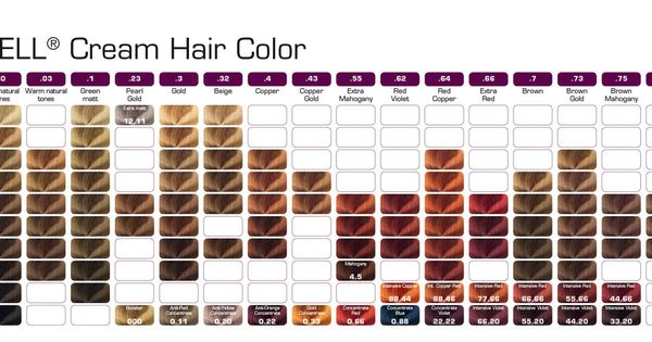 Berrywell Cream Hair Color Color Charts Pinterest