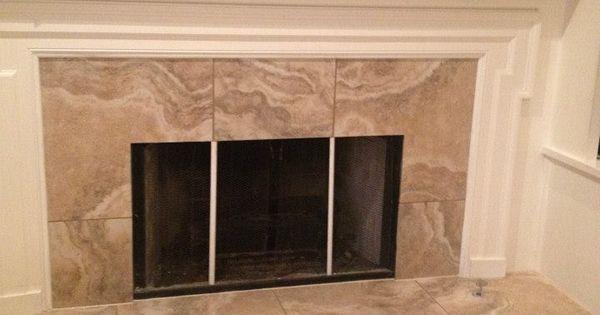 Fireplace Surround Interceramic Travertino Royal color