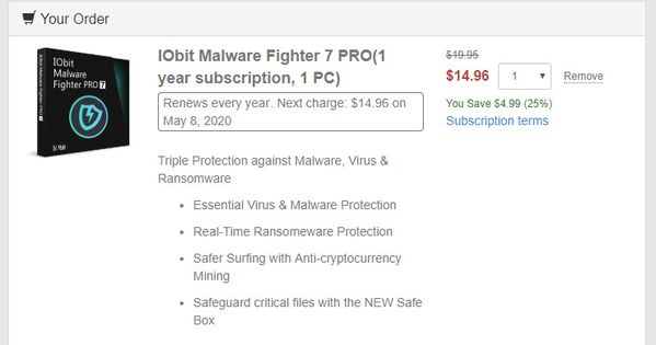 63 Off Iobit Malware Fighter 7 Pro Coupon Code Coding Malware Microsoft Windows Operating System