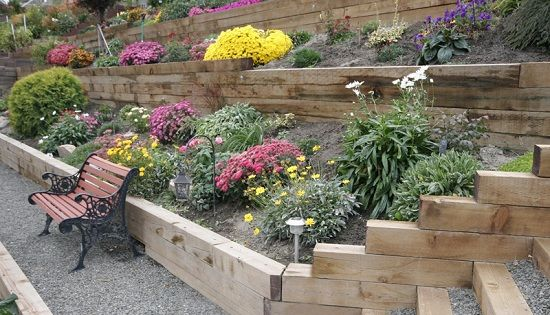Landscaping Ties Nanaimo : Ties home decor report landscape terraced garden