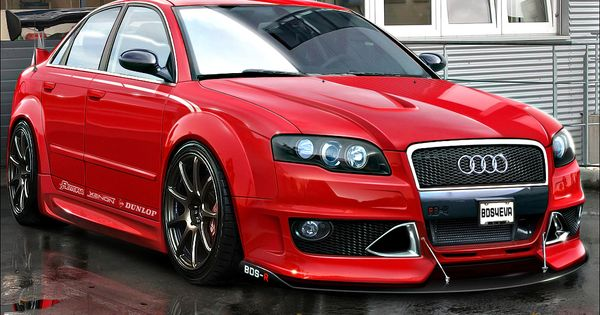 audi Hot Cars | Red Audi RS4, audi, red car in the