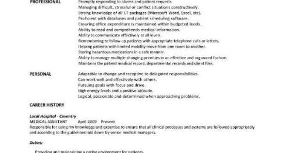 Medical Assistant Student Resume Templates Cakepins.com