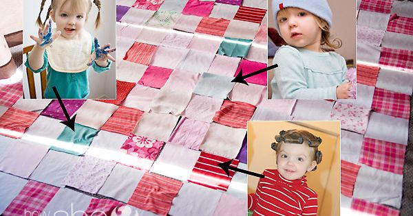 Make a Memory Quilt for Free from Your Old Clothes! MAKE ONE