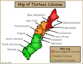 Thirteen Colonies New England Middle Southern Colonies Middle colonies Thirteen colonies Southern colonies