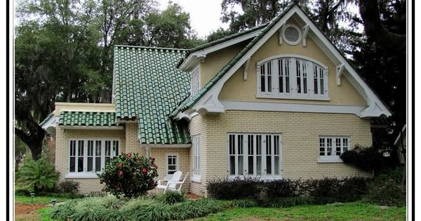 Best Yellow House With Green Metal Roof Crystal River 640 x 480