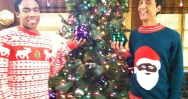 Community Christmas Black Santa Sweater Santa Sweater Black Santa