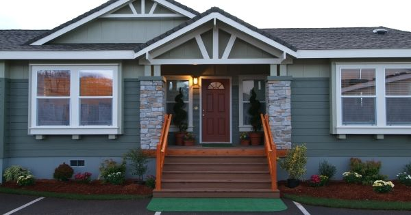 Charming And Inviting Porch On This Manufactured Home