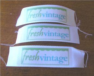 Fabric Labels Tutorial Freshvintage Fabric Labels Diy Labels Sewing Labels