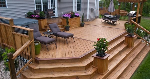 Best Step Down To Deck From House Google Search Backyard 640 x 480