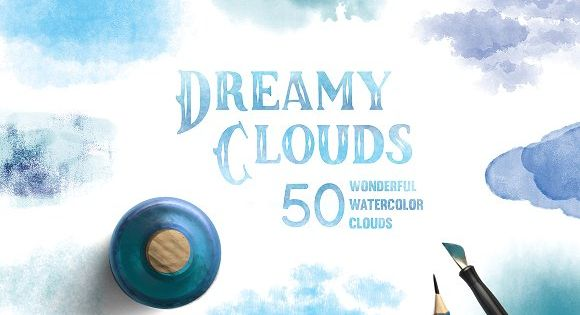 Dreamy Clouds by ..tea.. on @creativemarket