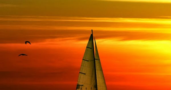 Sailboat Sunset. It is amazing how many times you see it, a