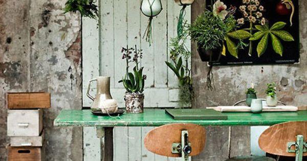 green- I like the hanging plant idea