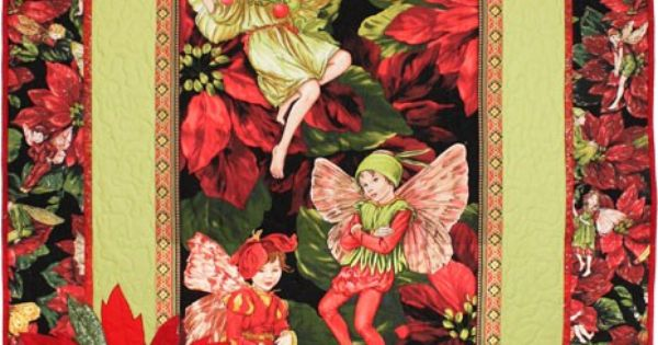 Quilt Kits Holiday Flower Fairies Quilt Kit By Michael