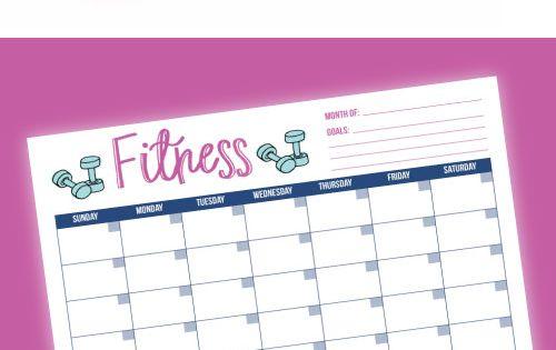 free printable fitness tracker