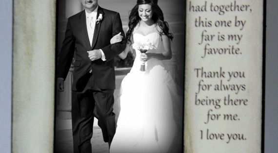 Father Daughter Wedding Frame Bride Walk down the aisle Keepsake Personalize Picture