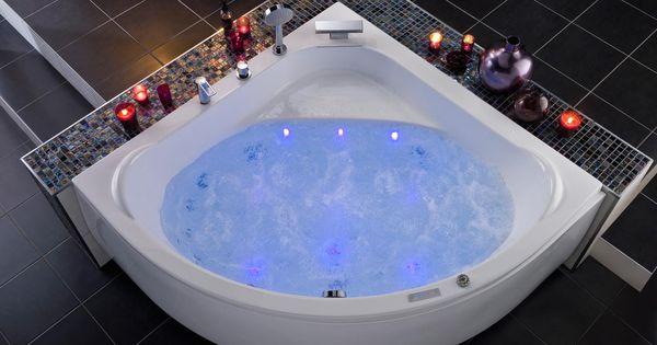 Baignoire d 39 angle baln o mod le lagune - Mini baignoire d angle ...