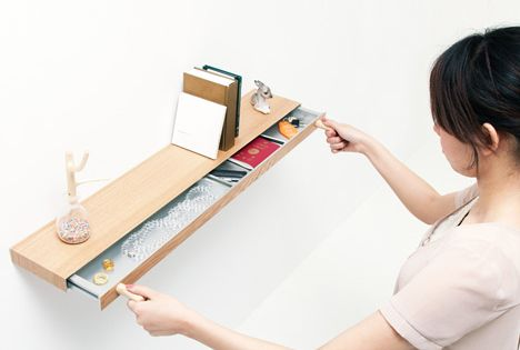 What do you think of this idea for you??? [Bookshelf] secret drawer
