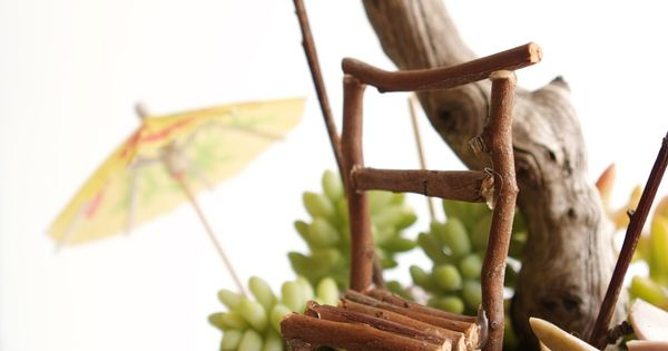 Twig fairy chair ~ step-by-step instructions from The Magic Onions, plus link