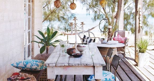Bohemian outdoor room.