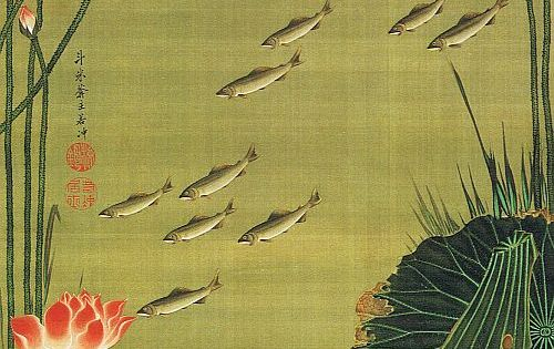 Ito Jakuchu fish and flowers