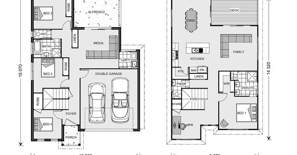 Floor Plan Twin Waters 261 Home Design House Plans Australia House Design House Floor Plans