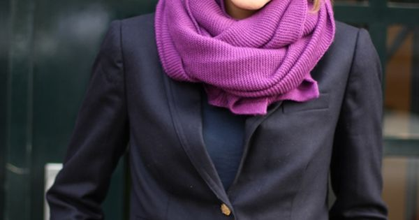so chic in navy and purple
