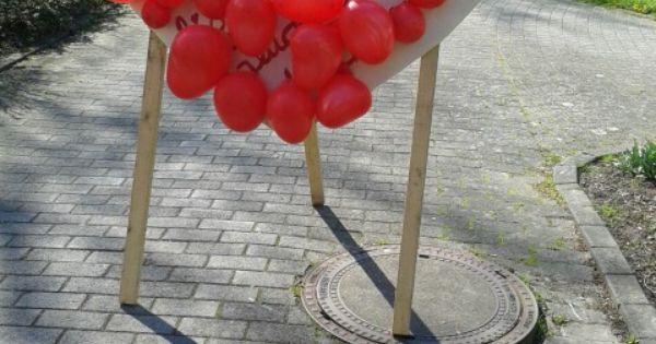 Herzchen Luftballon Darthspiel nach dem Standesamt / der Hochzeit ...