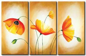 Vi 9481 445470 258138 Flores Pintadas Como Pintar Cuadros Arte Triptico