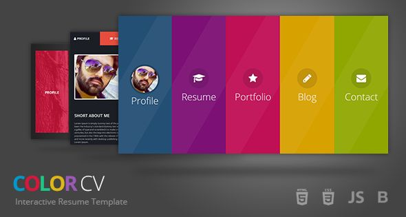 ColorCV - Interactive Resume Template Nice, Resume and Templates - interactive resume template