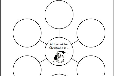 all i want for christmas is    bubble chart for kids