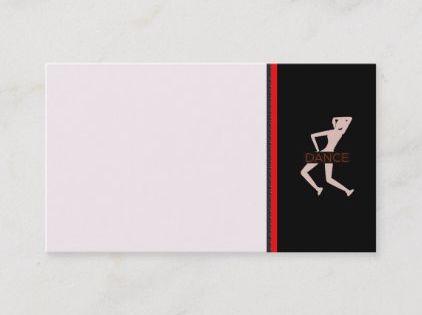 Dance Business Card Zazzle Com Dance Business Business Cards Cards