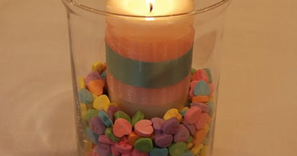 Valentine's Day candle. Cute!