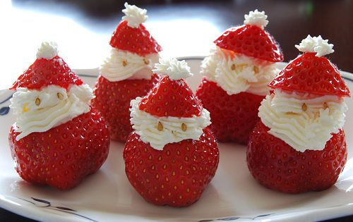 Sweet Santas. These will dress up your Christmas table.