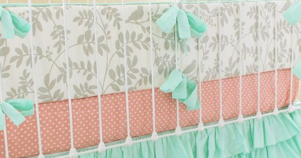 We adore mint green in a baby girl nursery! How perfect is