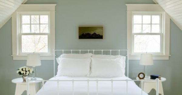 Beautiful for a guest bedroom (paint color is Quiet Moments by Benjamin